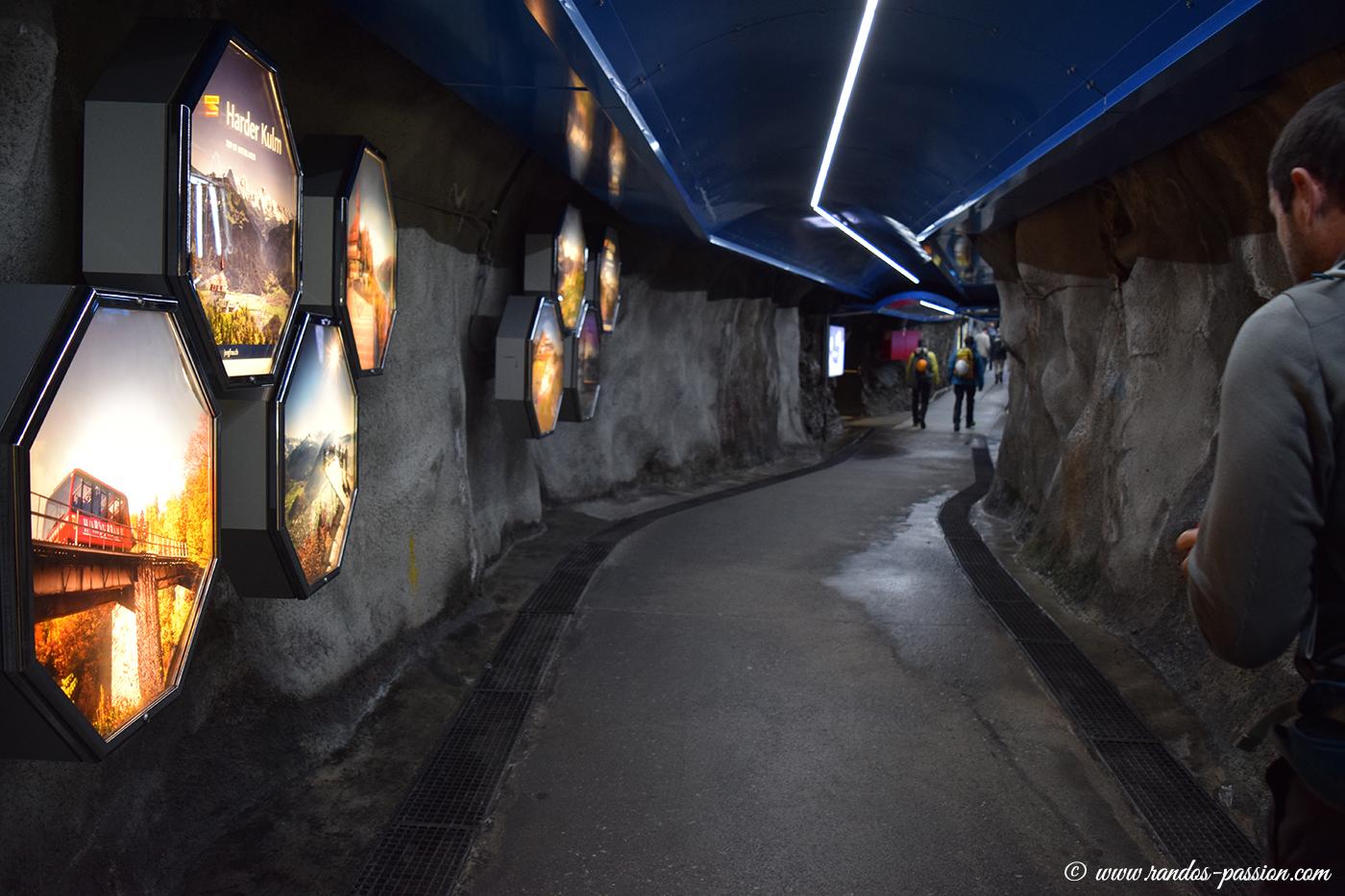 Dans les tunnels de Jungfraujoch