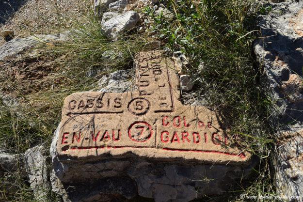 Balisage dans le Parc National des Calanques