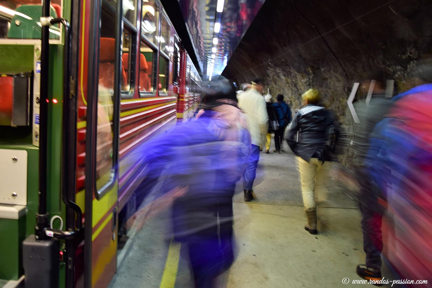 Arrivée à la Gare de Jungfraujoch