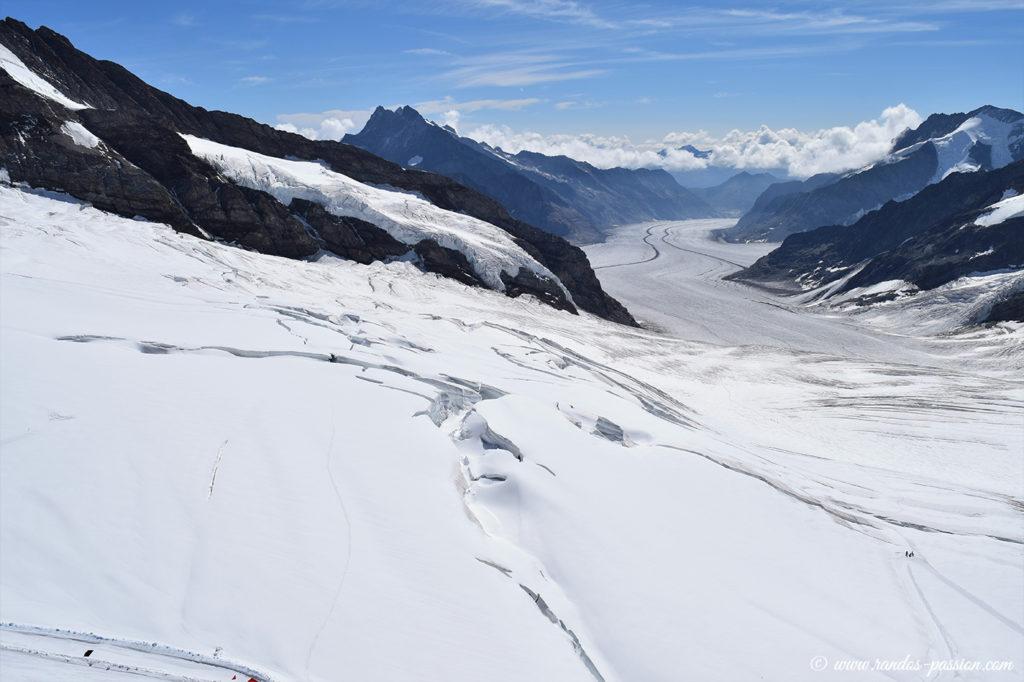 Le glacier d'Aletsch vu depuis la terrasse du Sphinx
