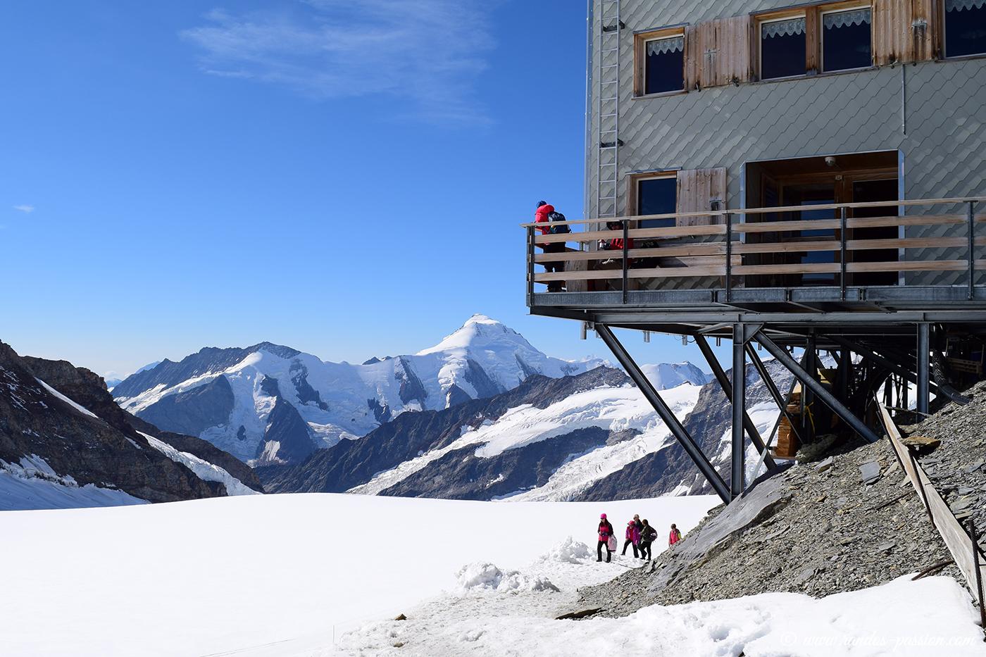 Mönchsjocchütte; le refuge du Mönch