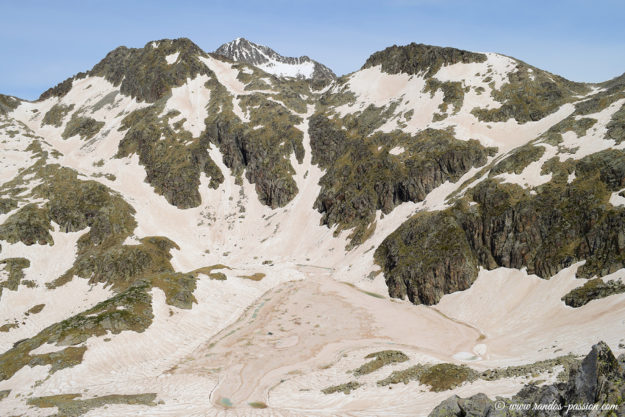 Du sommet, vue sur l'Estany de Cap de Llauset