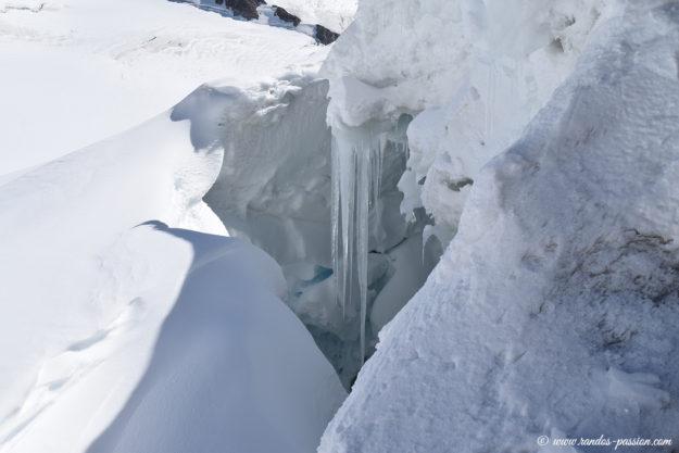 Crevasse au glacier Emigschneefal