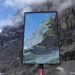 Voie de la première ascension de la face nord de l'Eiger