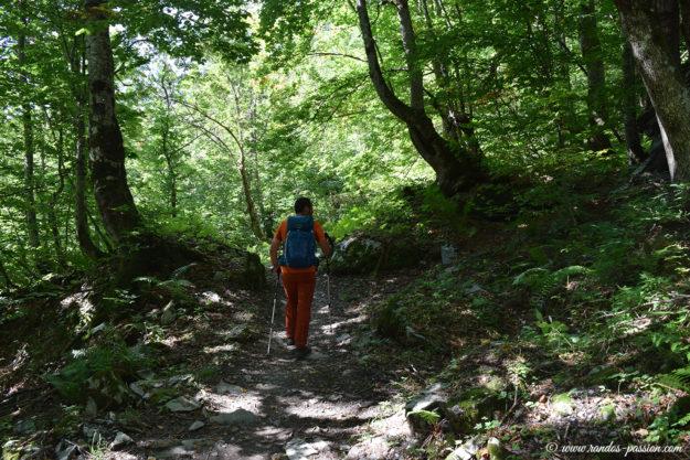 Le sentier du chalet de Boret