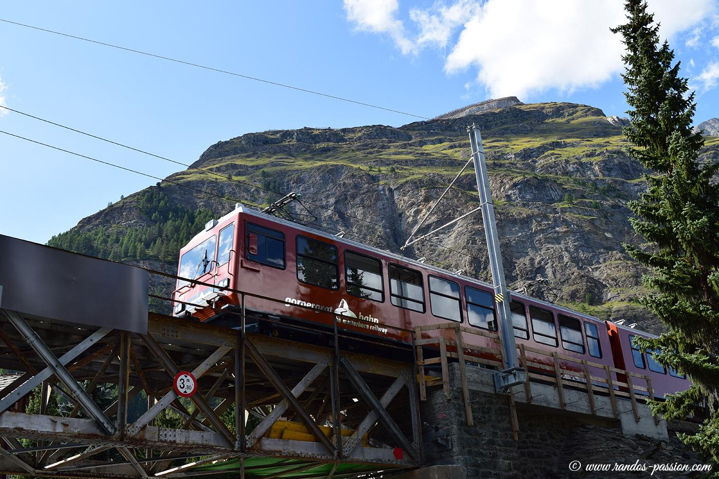 Le train à crémaillère du Gornergrat