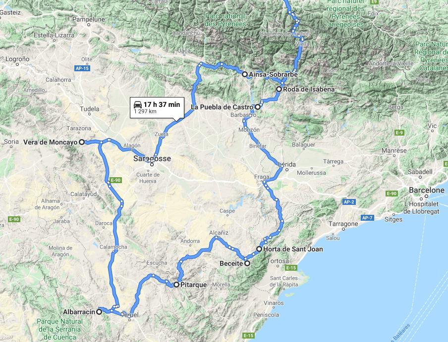 Road-trip en Aragon