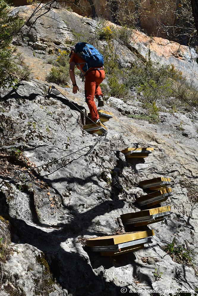 Le camino de las Escaleretas - Sierra de Guara