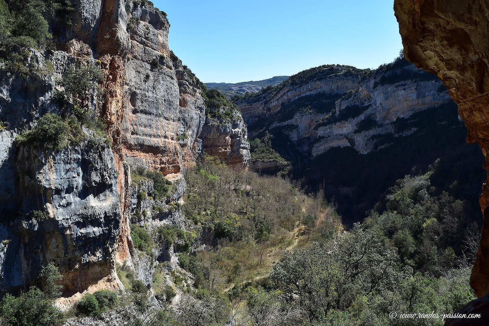 Le camino de las Escaleretas et le rio Vero