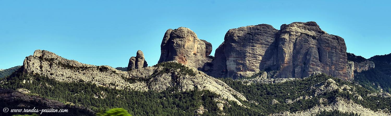 Les Roques de Benet, vues depuis Horta de Sant Joan