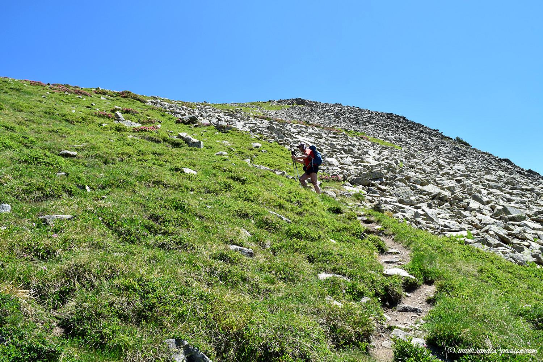Dans la montée du col de Rosari