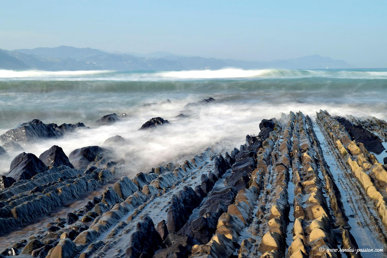 Le flysch de la plage d'Itzurun à Zumaia