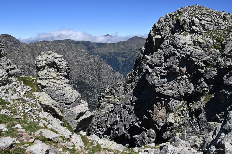 La crête de la Sierra de Liena - Aragon