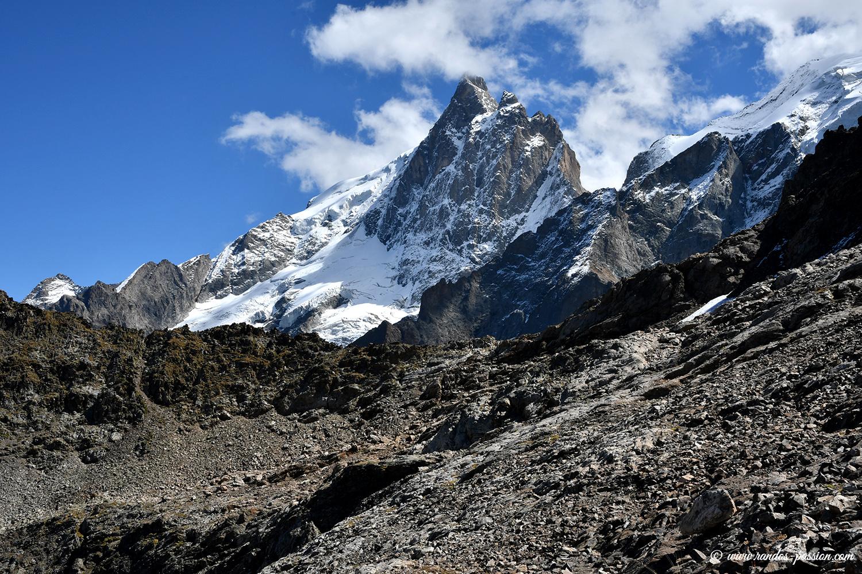 La brèche Pacave - massif de La Meije - Hautes-Alpes