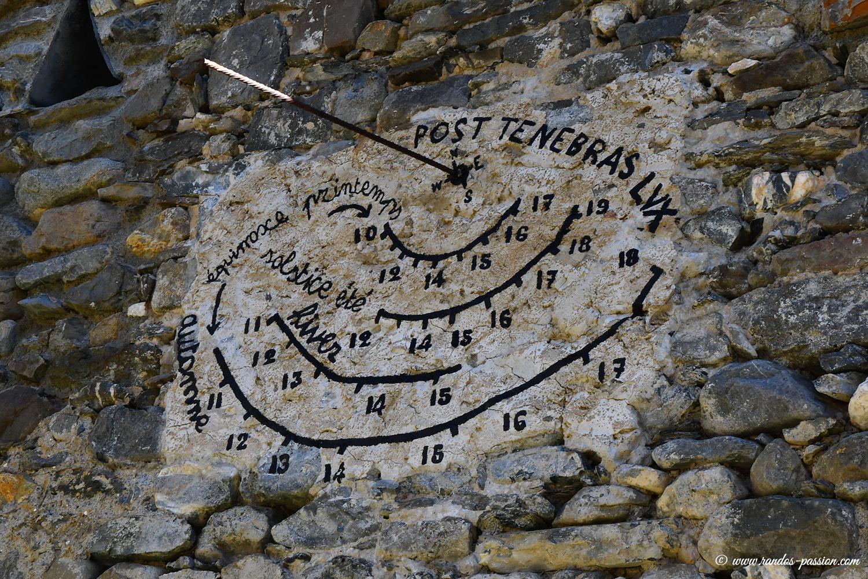 Cadran solaire au hameau de Pramailler - Hautes-Alpes