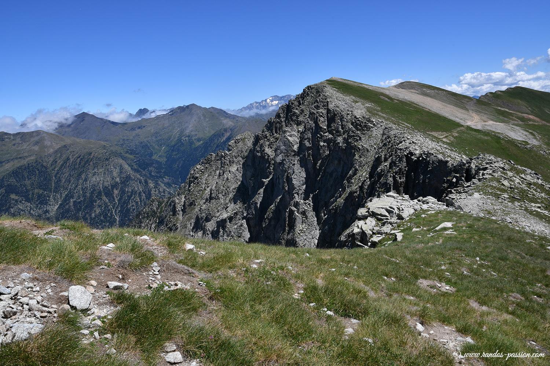 La crête de la Sierra Liena - Aragon