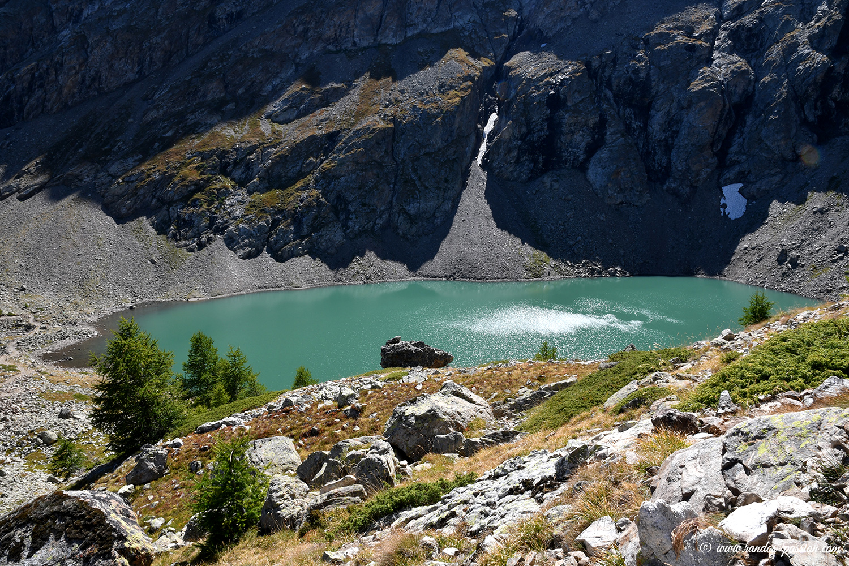 Le lac de Puy Vachier - Massif de la Meije - Hautes-Alpes