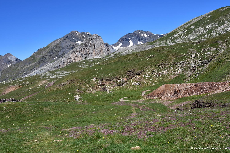 Les mines Robert sous la Punta Liena - Aragon