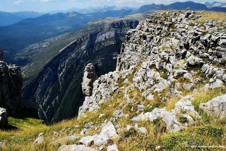 Canyon de Niscle depuis les Sestrales