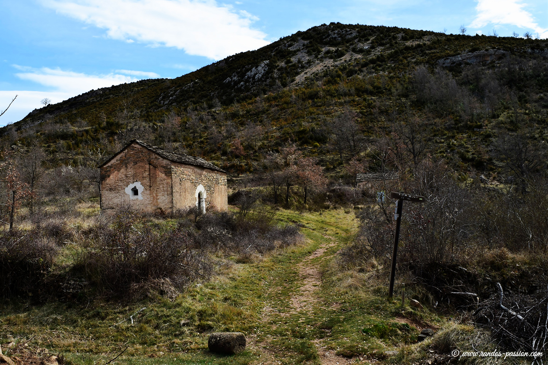 La chapelle à Otin - Sierra de Guara