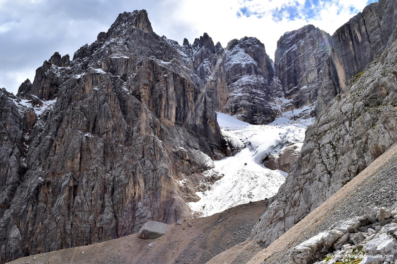 Le glacier Occidental de Sorapis - Dolomites