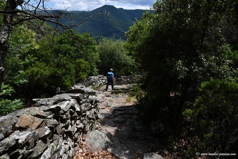 Le sentier dallés des Gorges de Colombières