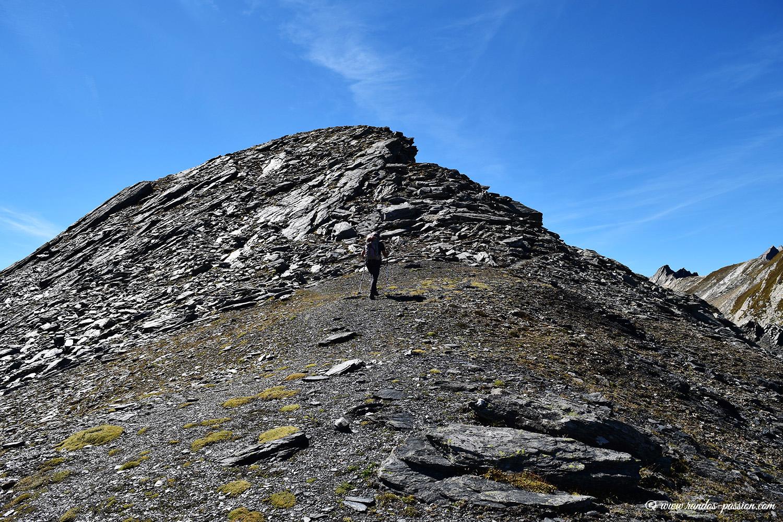 Arrivée au sommet de la Tête de Fenêtre - Val d'Aoste