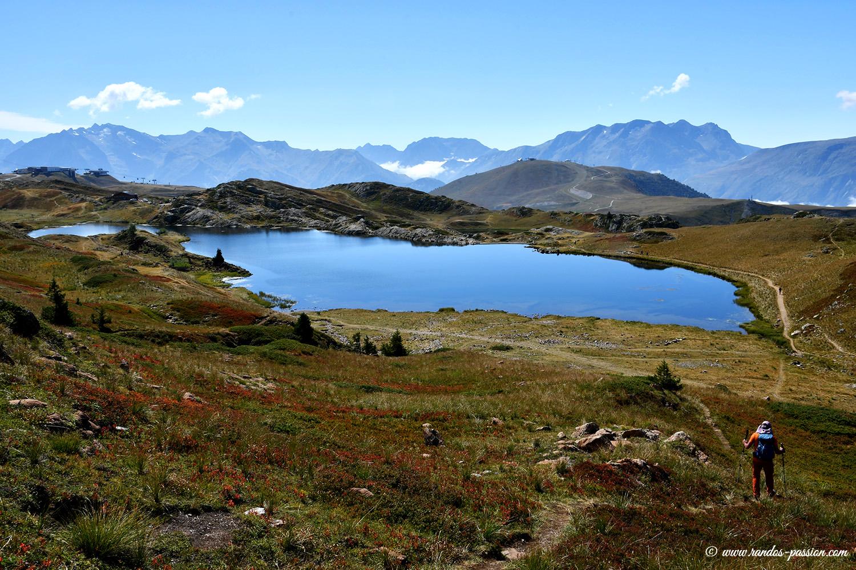 Le lac Besson à l'Alpe d'Huez