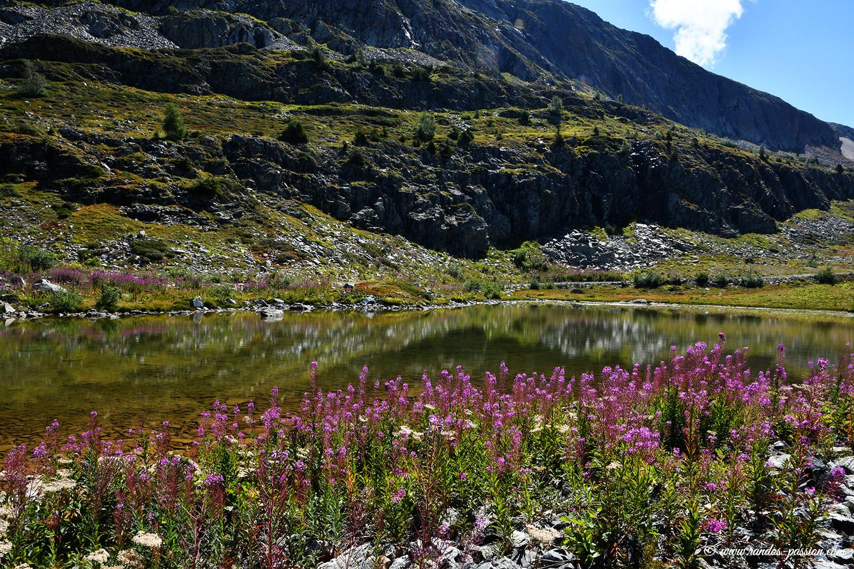 Le lac Lamant à l'Alpe d'Huez