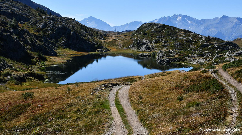 Le lac Faucille à l'Alpe d'Huez