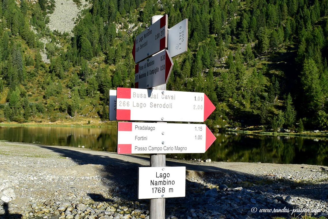 Le lac Nambino - Dolomiti de Brenta
