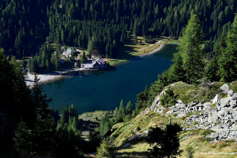 Vue sur le lago Nambino