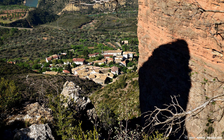 Vue sur le village de Riglos - Aragon