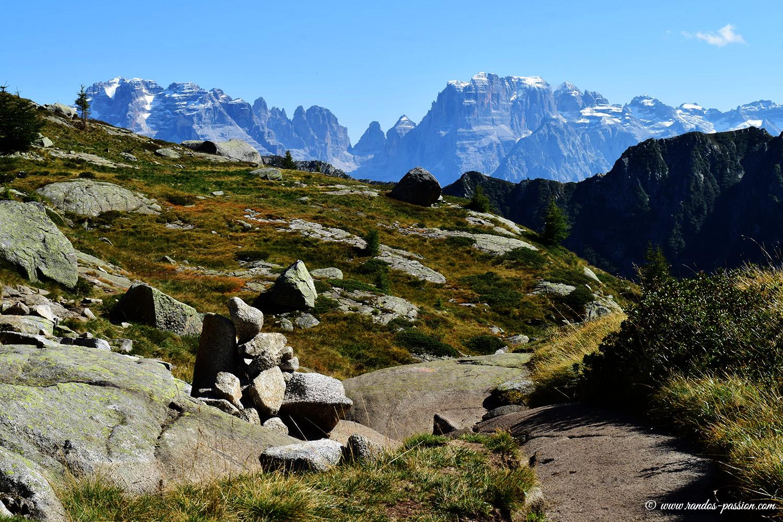 Vue sur la Cima Brenta - Dolomiti di Brenta