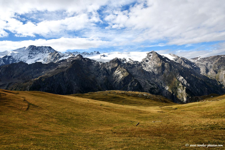 Glacier de la Girose depuis le plateau d'Emparis