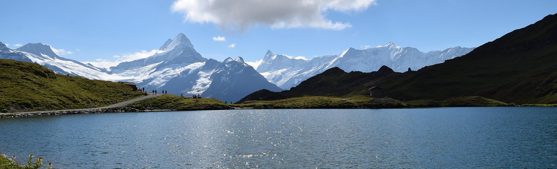 Le lac de Bachalp et le Faulhorn