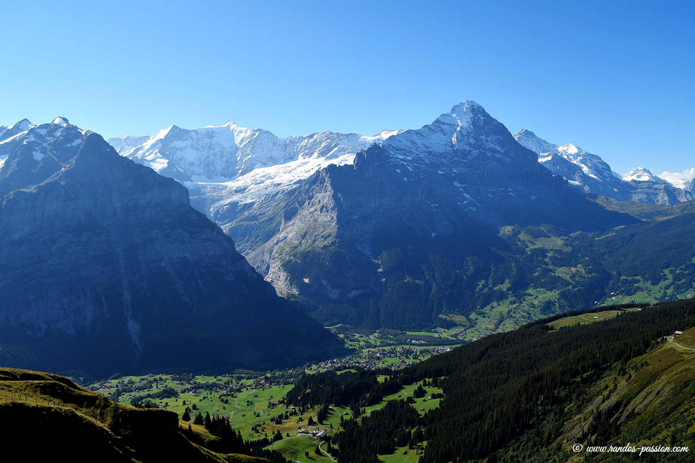 L'Eiger vue depuis First