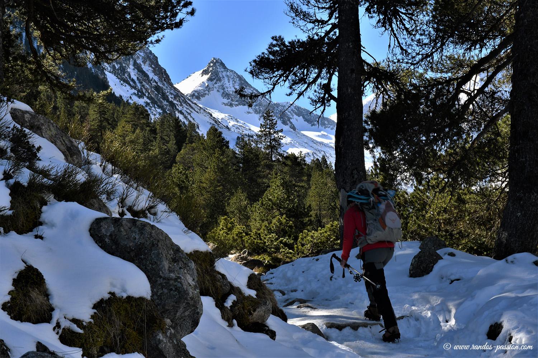 Randonnée au lac de Gaube en hiver