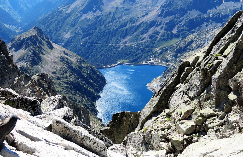 Lac de Cap de Long depuis le sommet du Néouvielle