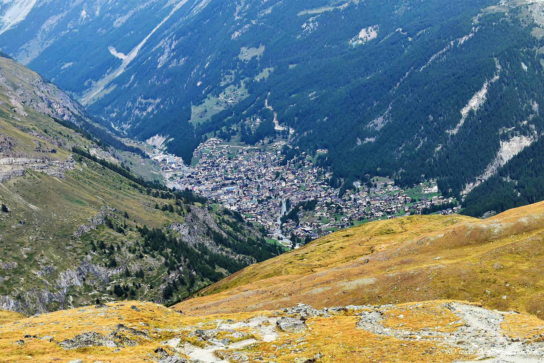 Vue sur Zermatt depuis Schwarzsee