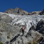Nous apercevons maintenant la langue terminale du Glacier Blanc. L'endroit est magique !