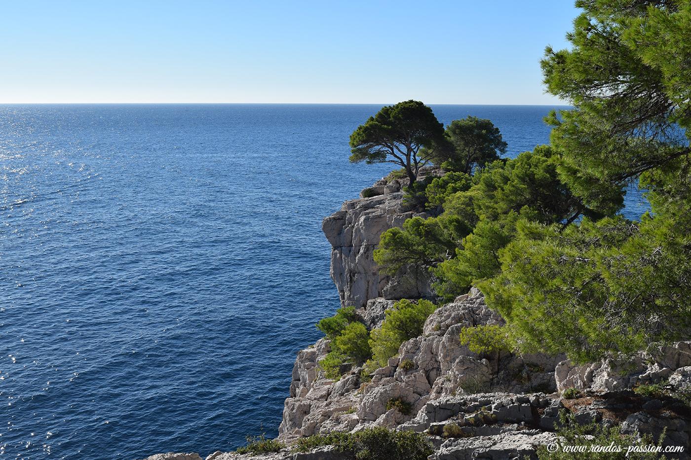 Vue sur la mer et la Pointe d'En-Vau