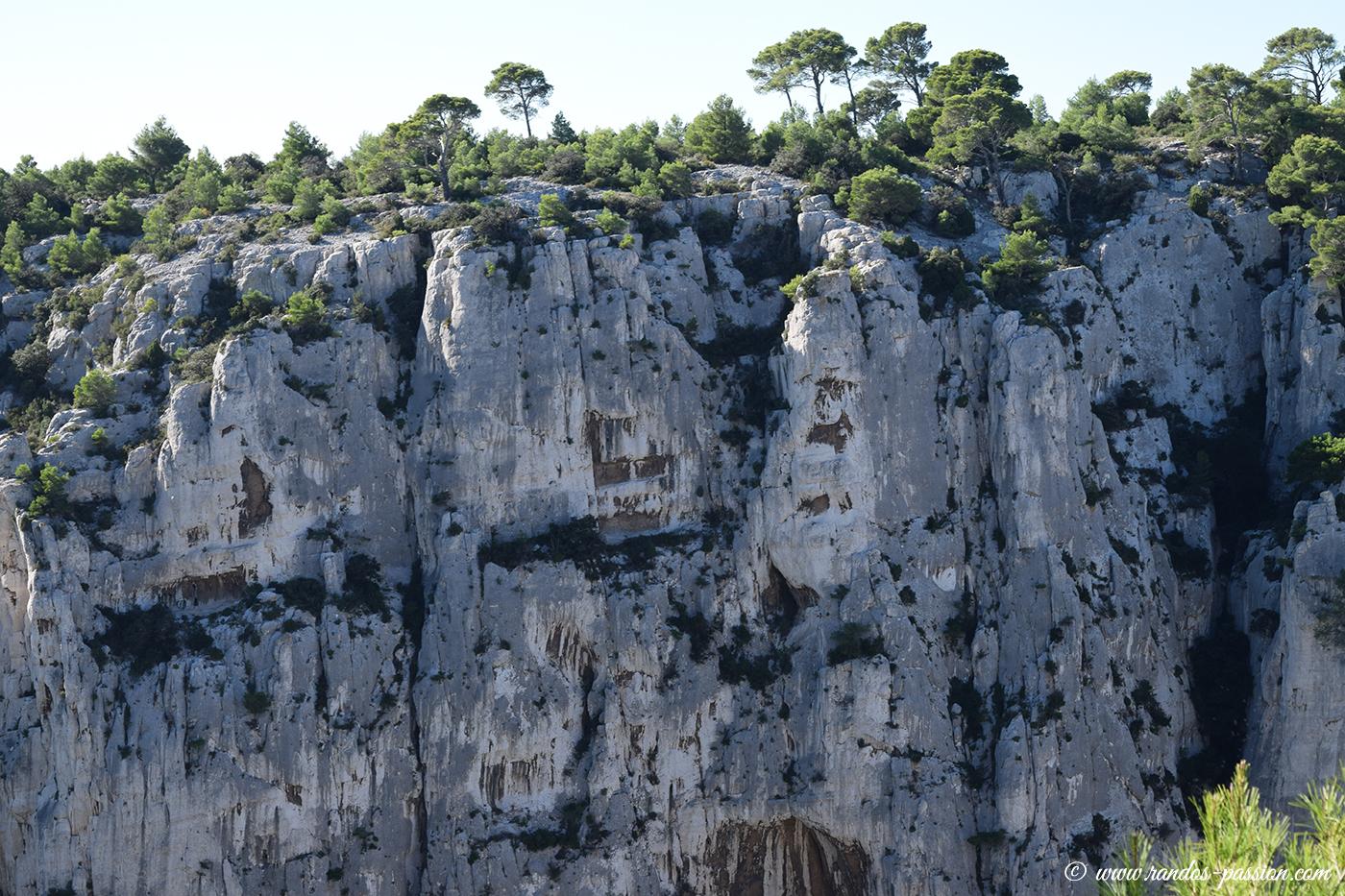Les falaises de la calanque d'En-Vau