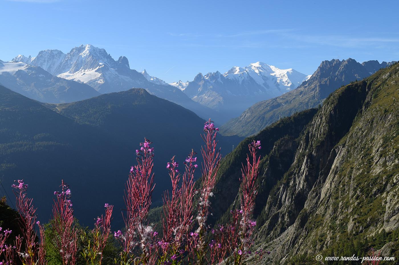 Vue sur le massif du Mont-Blanc depuis le barrage d'Émosson