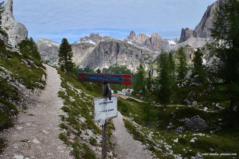 Sur le Giro delle Torri - Dolomites