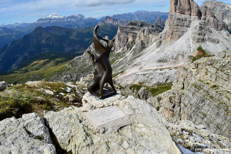 Le panorama depuis le refuge Nuvolau - Dolomites
