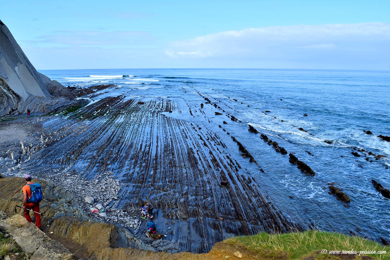 Le flysch de la plage de Sakoneta entre Zumaia et Deba