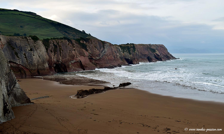 La plage itzurun à Zumaia