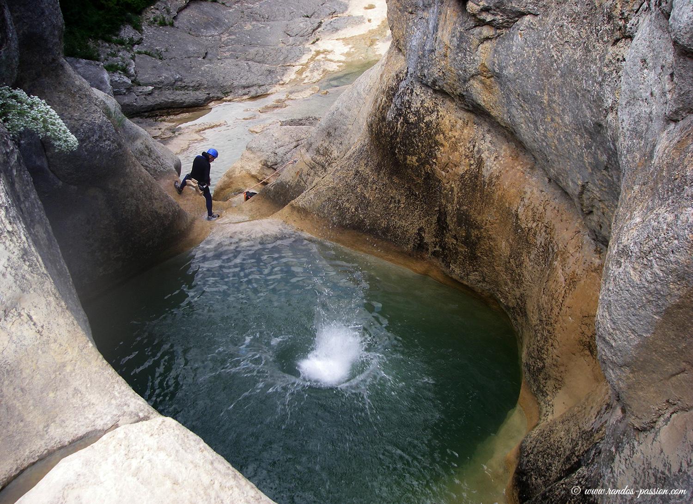 Le saltador de las Lañas - Sierra de Guara - Canyon du Mascún