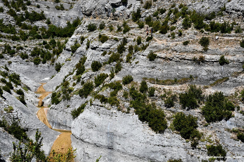 La vire du barranco Raisén